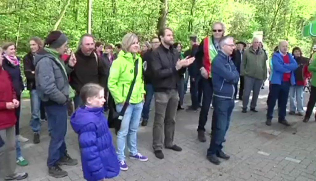 Grenzüberschreitende Protestaktion gegen den Flughafen Twente