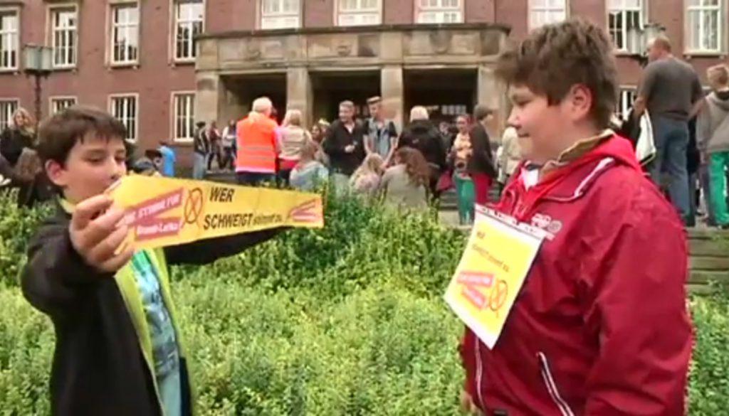 Demonstration für Schulleiterin der Freiherr-vom-Stein-Realschule