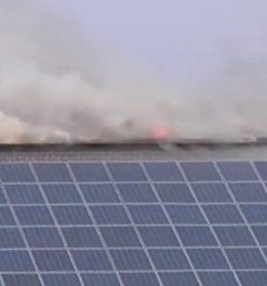 Putenstall in Flammen