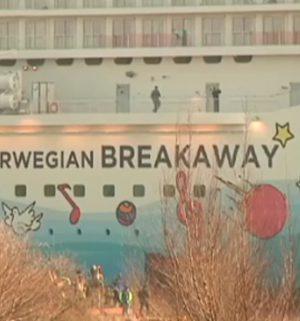 Impressionen von der Überführung der Norwegian Breakaway