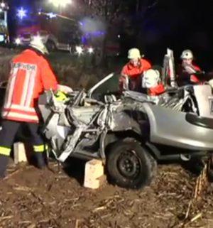 Frau bei Unfall schwer verletzt