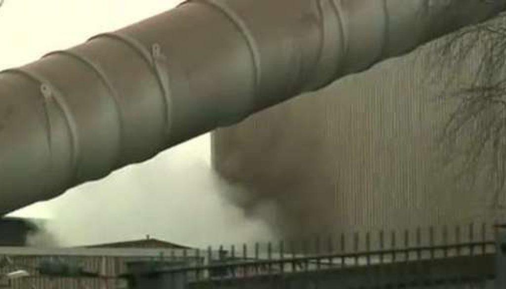 Feuer im Stahlwerk