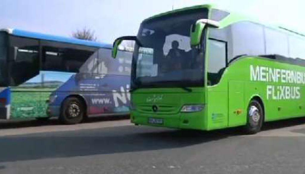 Hauptstadt-Fernbus hält in Bad Bentheim