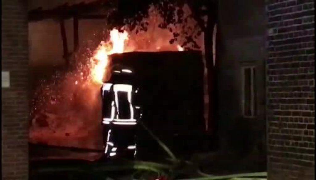 Lagerhalle in Lohne niedergebrannt