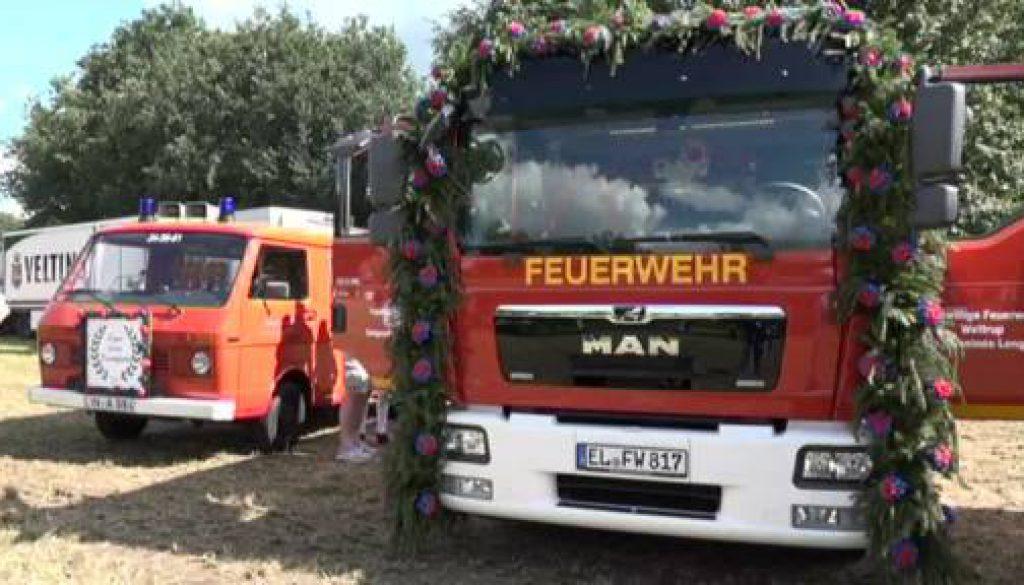 Neues Dienstfahrzeug zum Jubiläum der Feuerwehr Wettrup