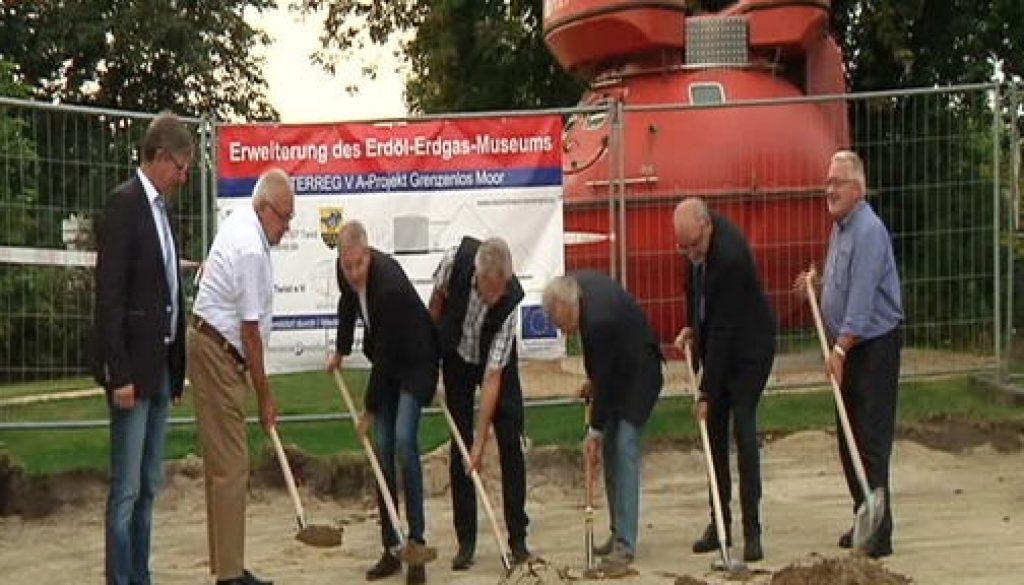 Erster Spatenstich zur Erweiterung des Erdöl-Erdgas-Museums in Twist