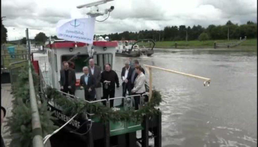"""An der Herbrumer Schleuse wird die """"Aschendorf"""" getauft"""