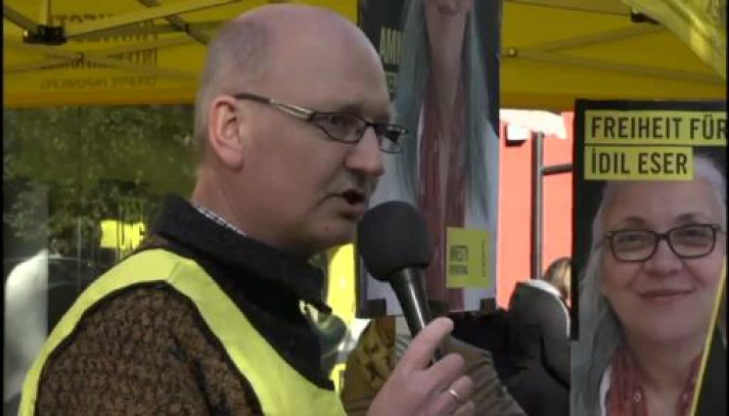 Solidaritätsaktion von Amnesty in Papenburg