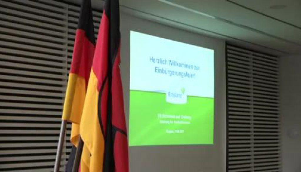 Einbürgerungsfeier 2017 in Meppen