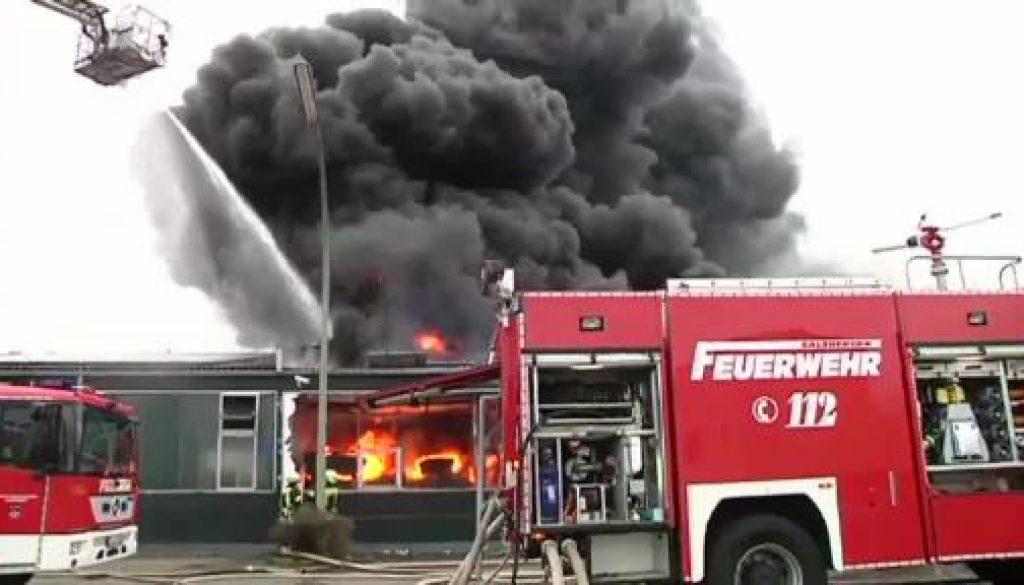Brand richtet Millionenschaden in Salzbergen an