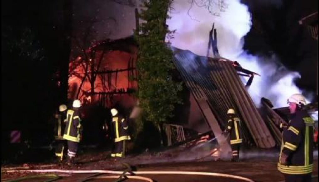 Scheune in Osterwald niedergebrannt