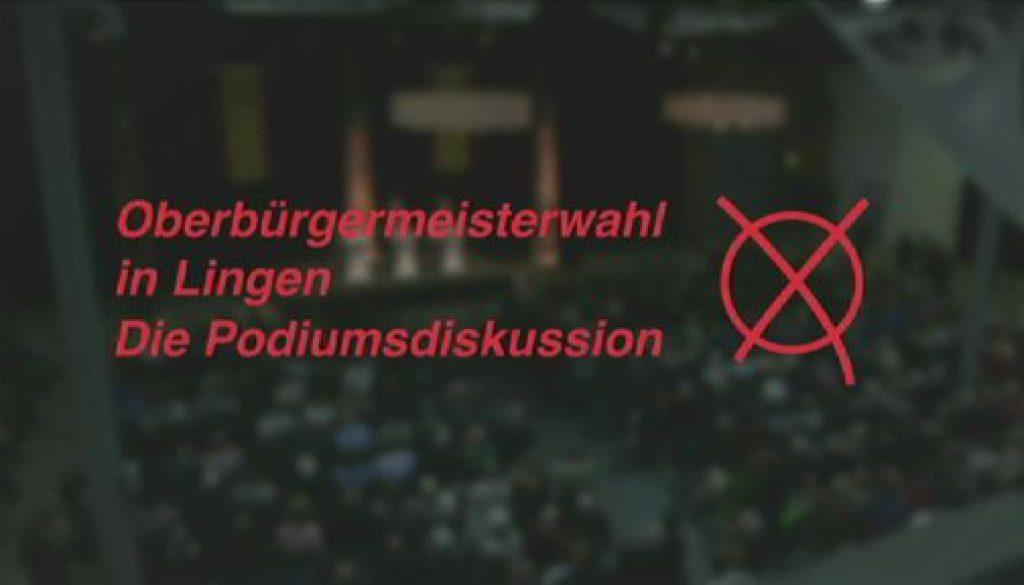 Oberbürgermeisterwahl in Lingen - Die Podiumsdiskussion (Teil 3)