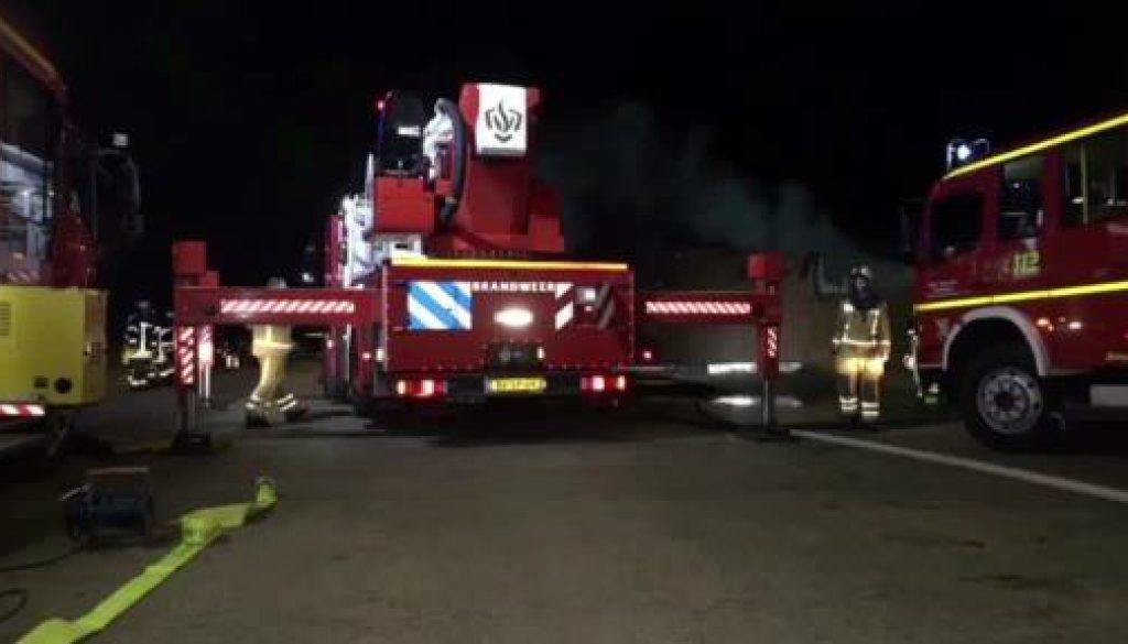 Lagerhalle brennt in Emlichheim