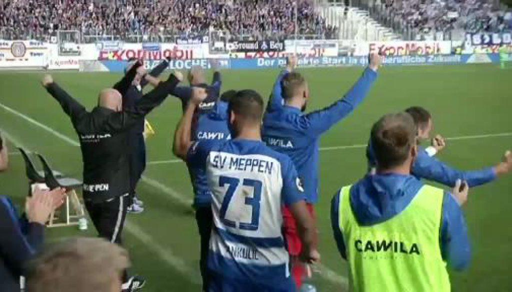 Der SV Meppen bezwingt die Münchner Löwen!