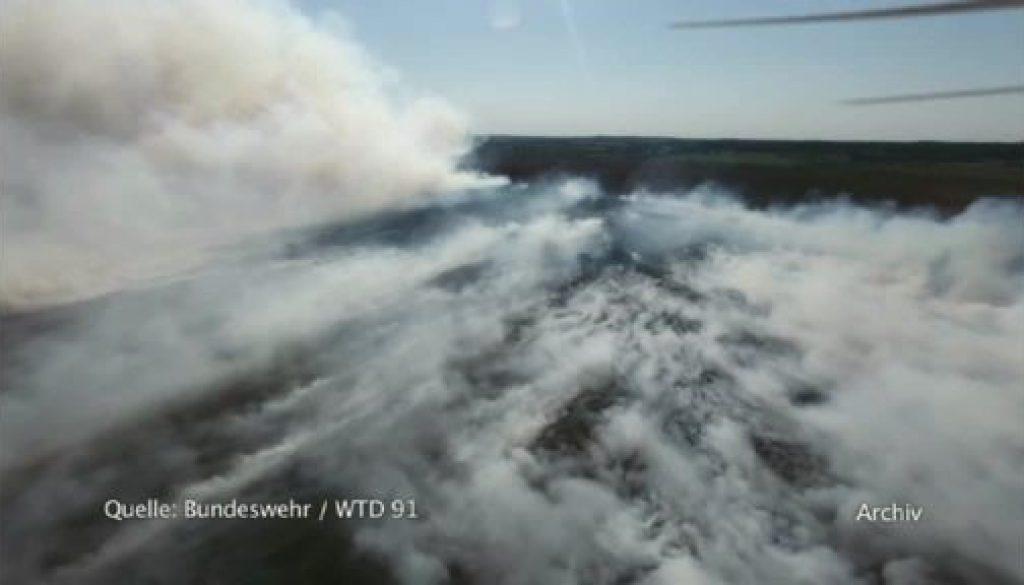 Moorbrand auf WTD Gelände - Bundeswehr wird zur Kasse gebeten