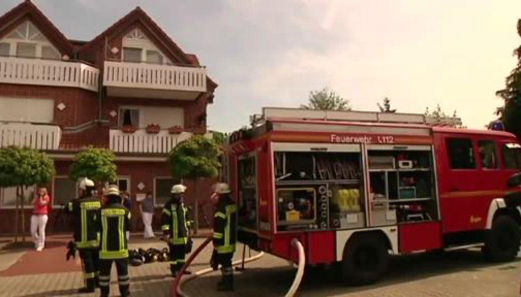 Verletzter bei Küchenbrand