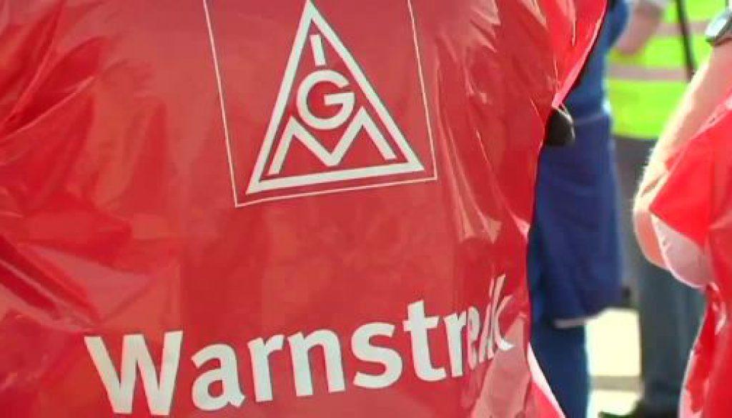 Kundgebung in Papenburg - IG Metall ruft weiter zu Warnstreiks auf