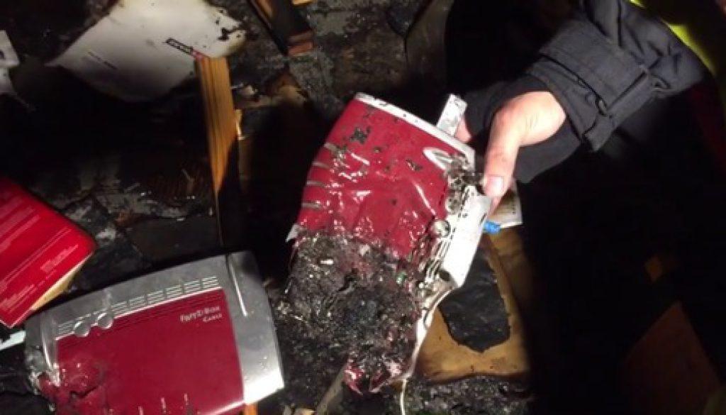 Brennender Router löst Feuerwehreinsatz aus