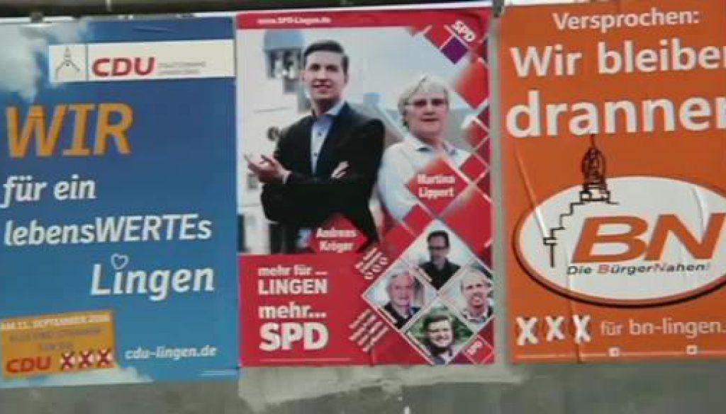 Lingener Wahlplakate auf dem Prüfstand
