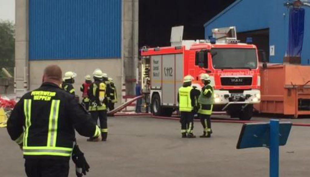 Großeinsatz für die Feuerwehr Meppen