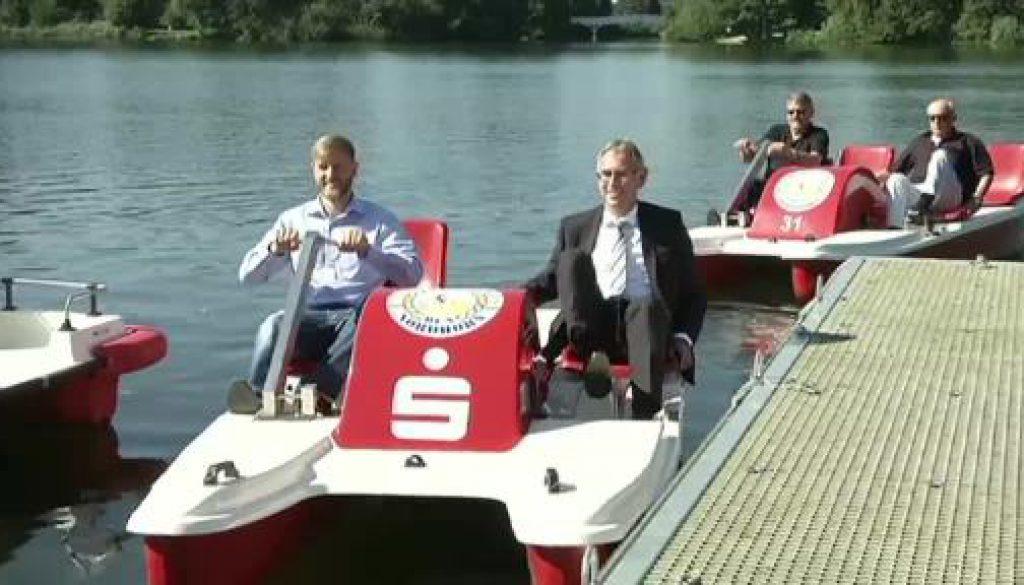 Tretboot für Menschen mit Handicap auf dem Vechtesee