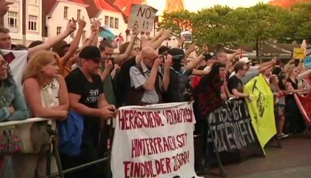 Laute Proteste bei AfD-Kundgebung in Lingen