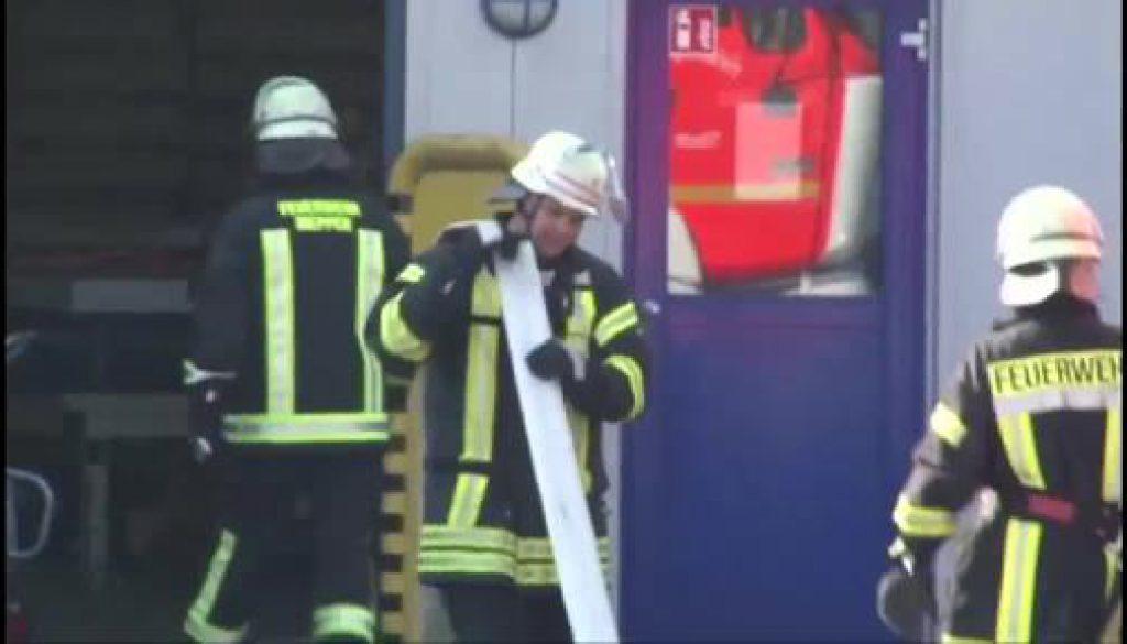 Feuer in Firma in Meppen