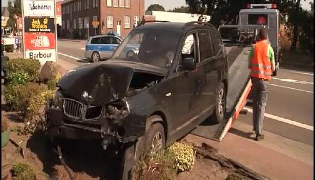 Spektakulärer Unfall am Nachmittag in Bawinkel