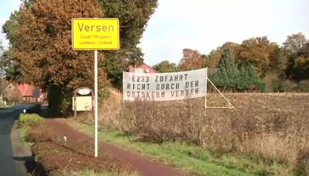 Protest gegen E233-Abfahrt in Versen