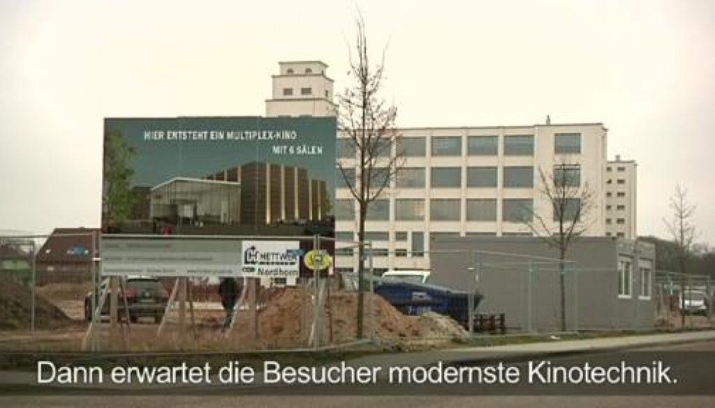 Grundsteinlegung des Multiplexkinos in Nordhorn
