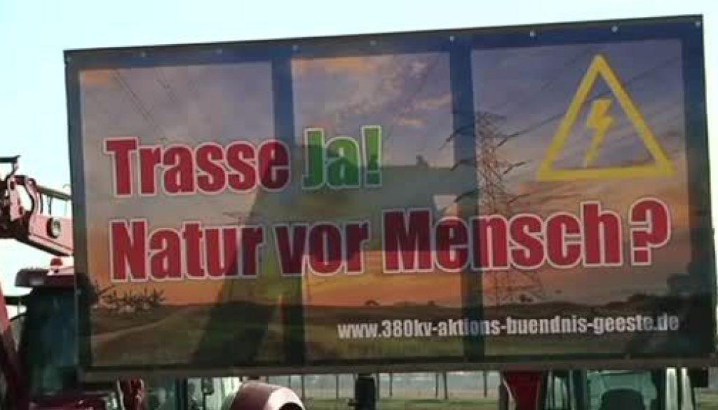 Protest gegen Starkstromtrasse in Geeste/ Dalum
