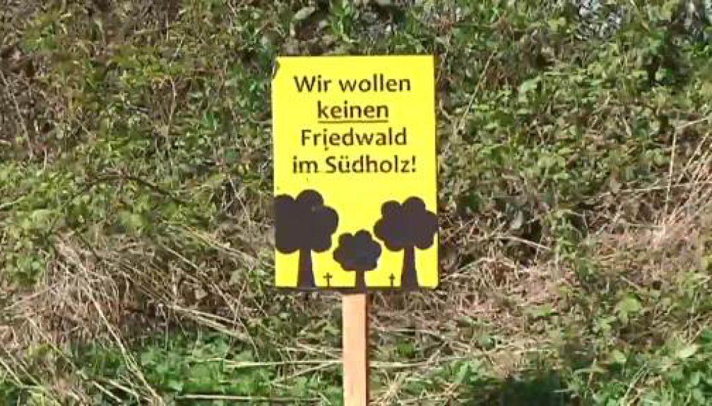 Konflikt um den Friedwald in Sögel