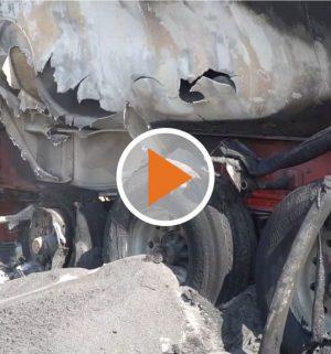 Screen_Tanklaster fängt auf der A1 Feuer