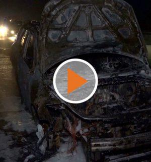 Screen_SUV brennt auf A28 aus