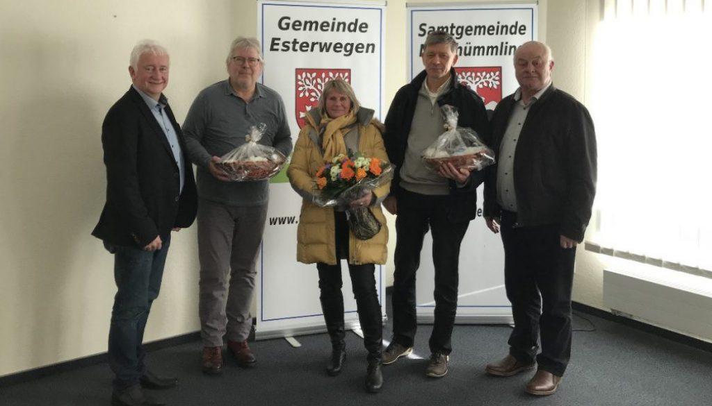 Gemeinde Esterwegen bedankt sich bei DIZ-Mitarbeitern