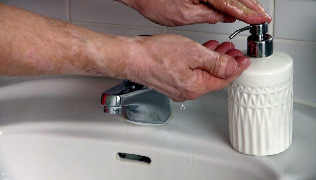 Symbol_Hygiene, Haende waschen, Seife, Krankheit, Infektion, sauber