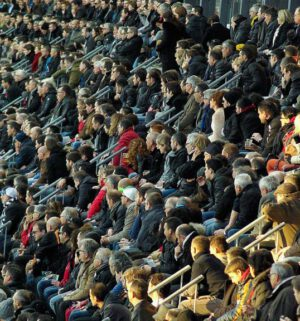 Symbol_Menschenmasse, Menschenmenge, Stadion, Zuschauer, Publikum