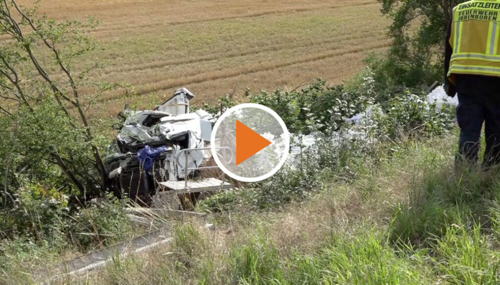 Screen_Schwerer Unfall auf A30