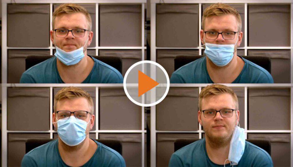Screen_Maske richtig tragen