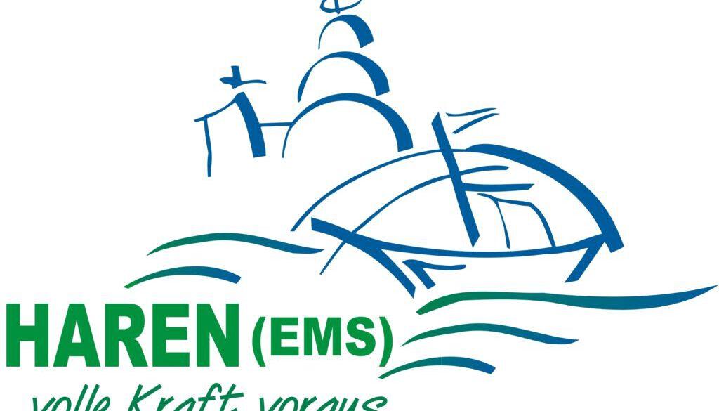 Logo Haren - Volle Kraft mit Arial black